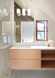 small bathroom remodel window transparent glass door bathroom lamps tile bathroom storage shelf