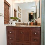 Small Bathroom Remodels Bathroom Cabinet Faucet Sink Mirror Blinds Wall Rack Flower Bright Lamps