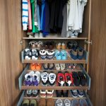 Small Closet In The Corner Made Of Wood