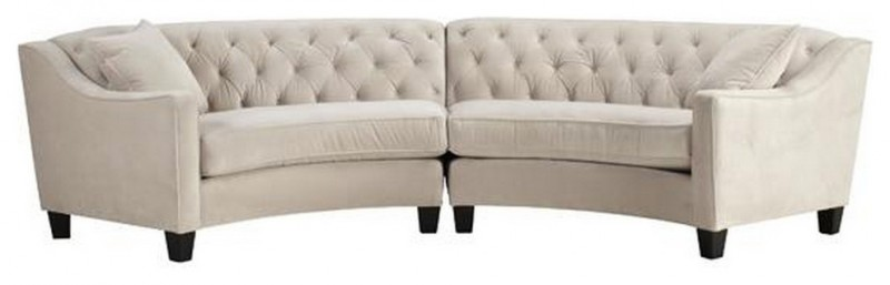 small white traditional sectional sofa