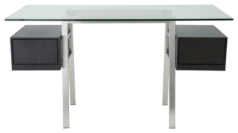 stainless steel office desk stainless steel tabletop floating dark grey wooden drawers