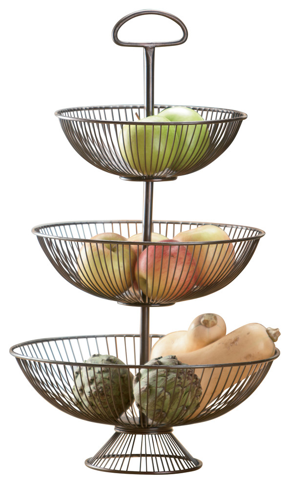 three basket serving stand