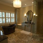 Traditional Grand High End Plumbing Fixtures With Tub, Mirror, Sink, Lamp