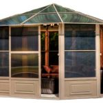 Traditional House Like Aluminum Gazebo Kit
