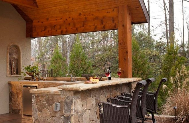 Plan your outdoor wet bar decohoms for Wet bar construction plans