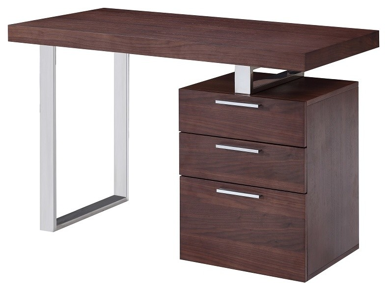 walnut wooden office desk 3 drawer computer desk modern simple office desk