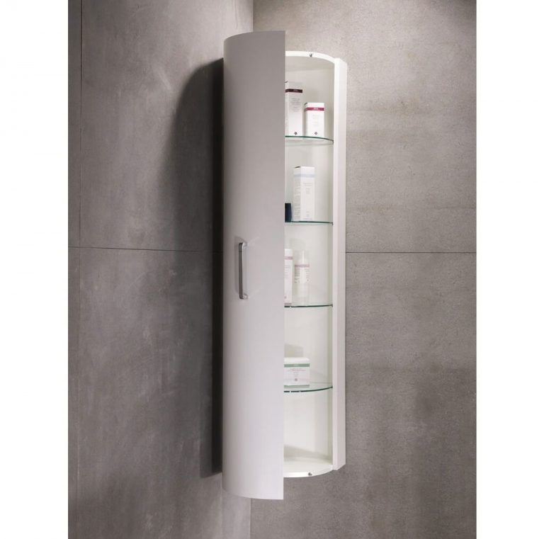 Incroyable White Floating Small Corner Cabinet For Bathroom