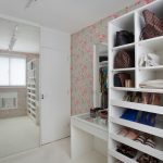 White Wooden Closet For Shoes