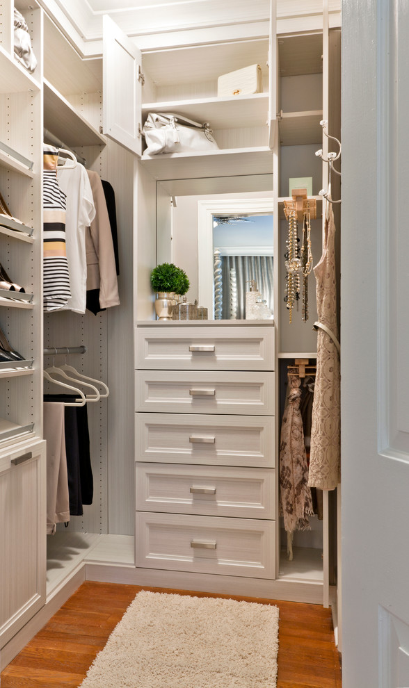 white wooden small closet with drawers and mirrors & Small Closet to Make It Tidier and Cleaner | Decohoms