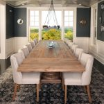 wooden dining table for 12 with leather chairs
