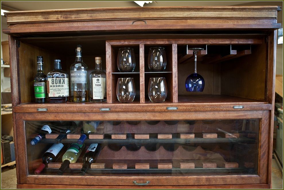 The Stylish And Efficient Liquor Cabinet IKEA Decohoms