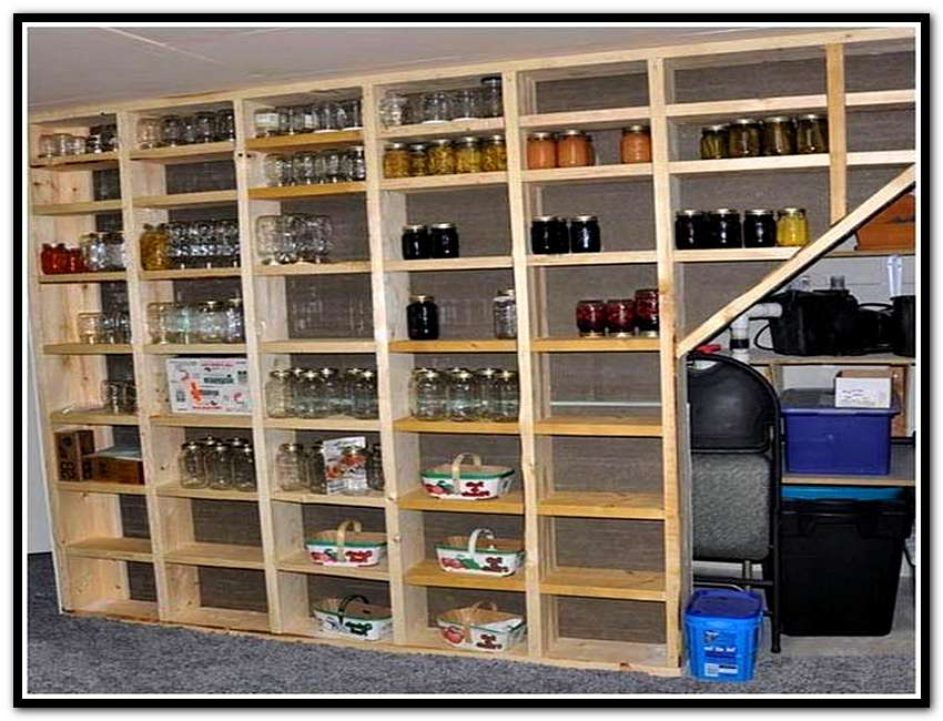 Basement shelving ideas convenient for your needs decohoms for Basement storage ideas