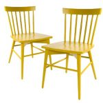 yellow short windsor chair