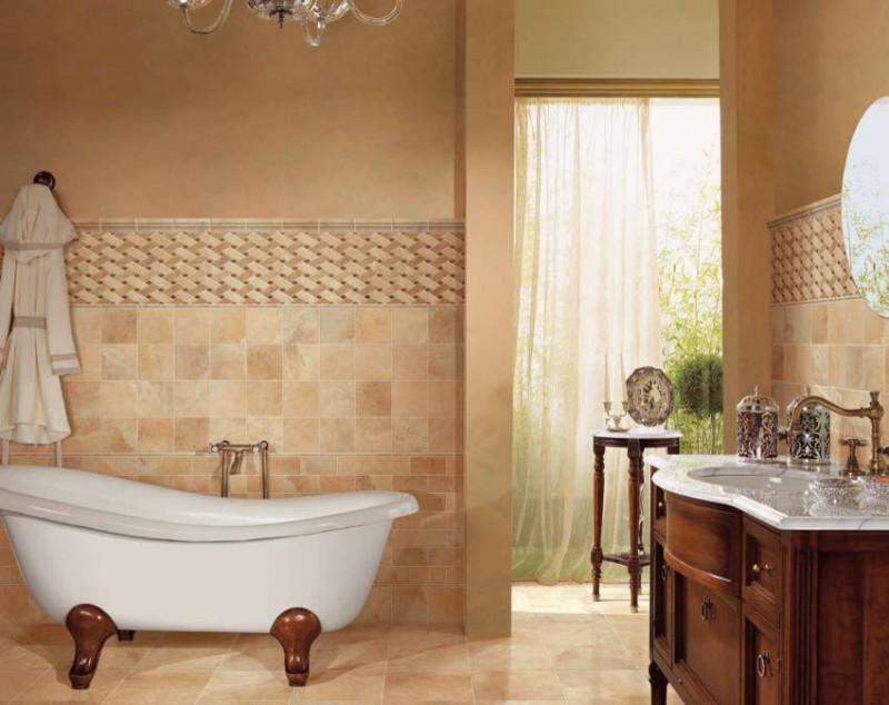 Bathroom Ceramic Tile Images : The options of simple chic tiled bathroom floors and
