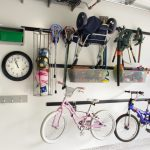 bike rack for apartment bicycles balls wheels ceiling rack wall rack clock light color garage sports items