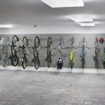 bike rack for apartment bikes doors modern ceiling lamps floor tiles adults bicycles kids bikes helmets