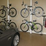 bike rack for apartment car garage motorcycle tools pump bikes simple design switch bicycles