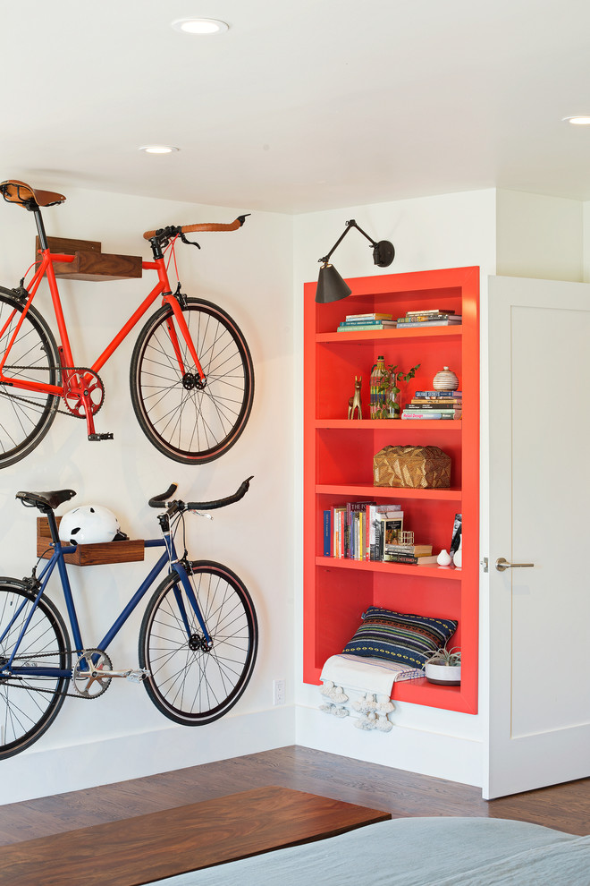 bike rack for apartment wod books bookshelves red modern lamp ceiling lamp wooden racks door