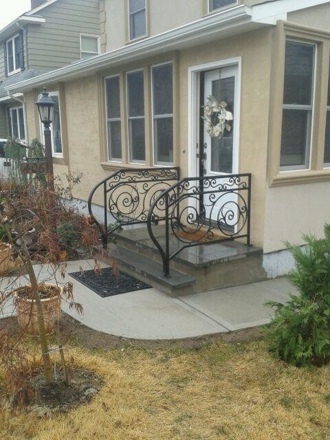 black metal ornamental railing