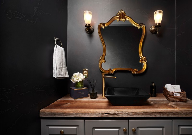 Small Powder Room Mirror