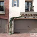 Bronze Wooden Garage Decorative Greenery Cream Wall Red Brick Wall Iron Wire