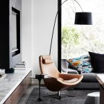 Brown Sleek Leathered Lounge Chair