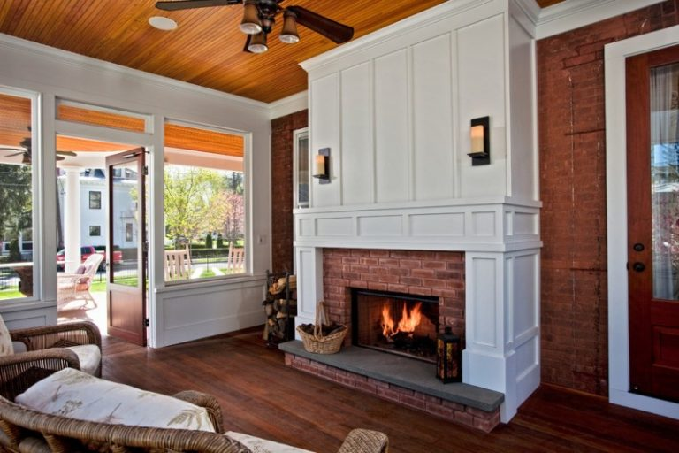 Cedar Mantle Brick Fireplace Designs To Get Inspirations