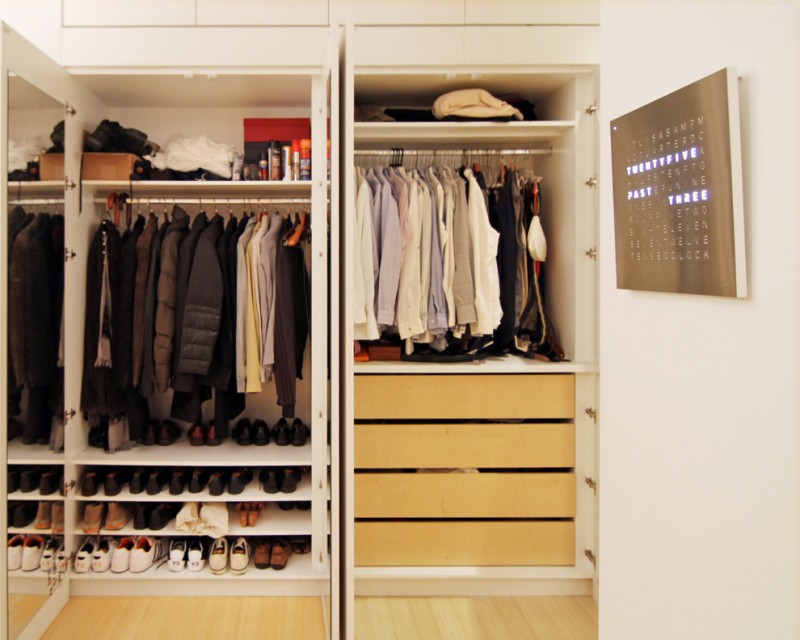 contemporary walk in closet organizer for men and in mid size