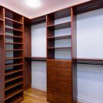 Dark Wood Walk In Closet Organizer With Hardware Addition Medium Tone Wooden Floors White Painted Walls