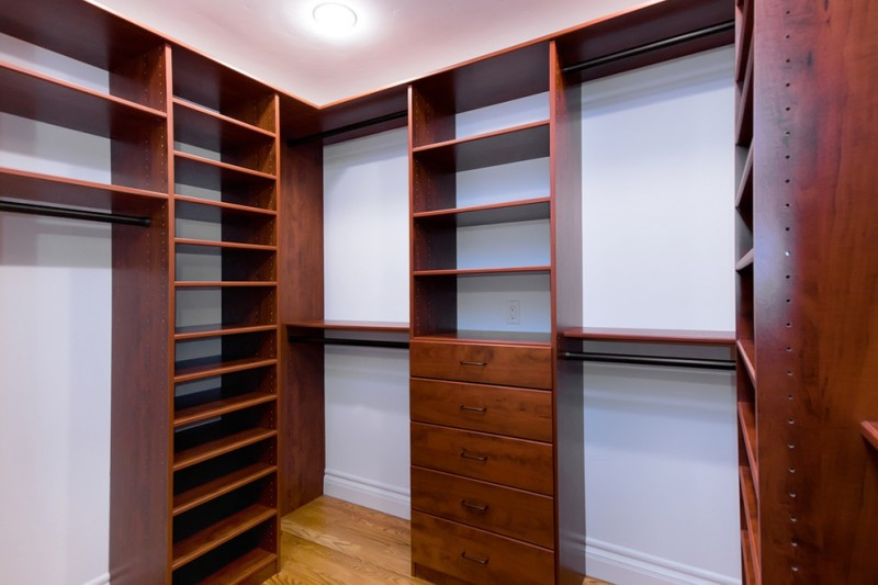dark wood walk in closet organizer with hardware addition medium tone wooden floors white painted walls