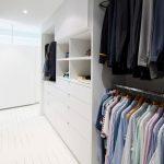 Elegant White Walk In Closet Organizer For Men