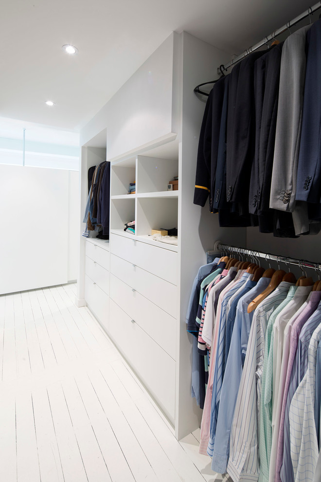 elegant white walk in closet organizer for men