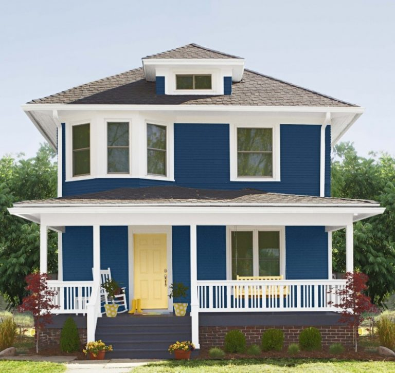House exterior painting from simple to modern decohoms - Exterior paint for home minimalist ...
