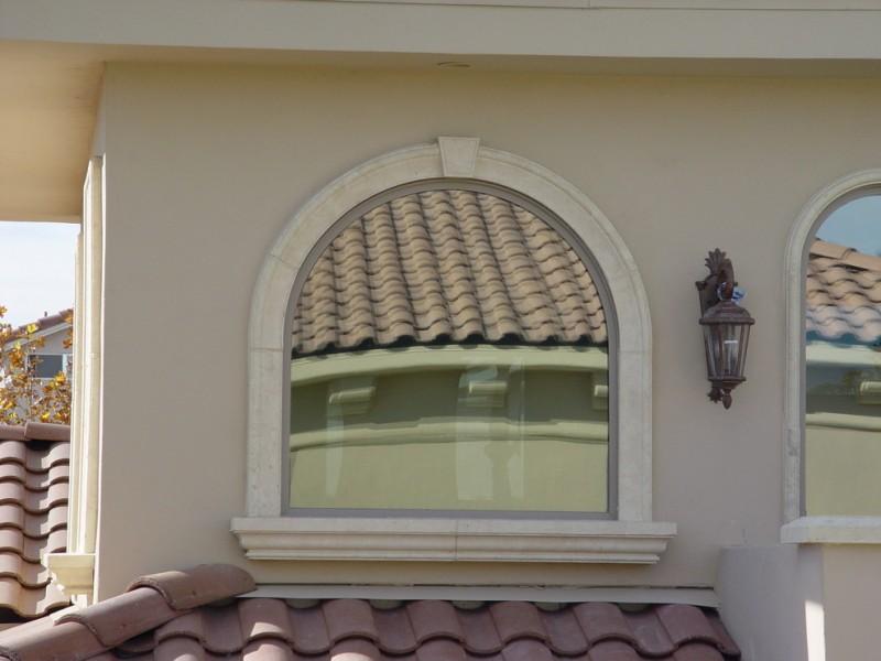 exterior window in Mediterranean style
