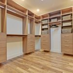 Floating Cedar Made Walk In Closet Organizer Wooden Floor Idea