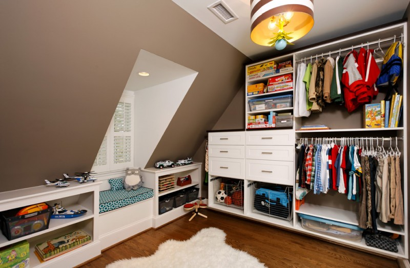 full height walk in closet organizer idea consisting of hang sections for clothes open shelves white cabinets white and long white shelves idea medium tone wood floors white fury rug
