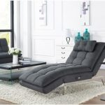 Grey Convertible Lounge Chair