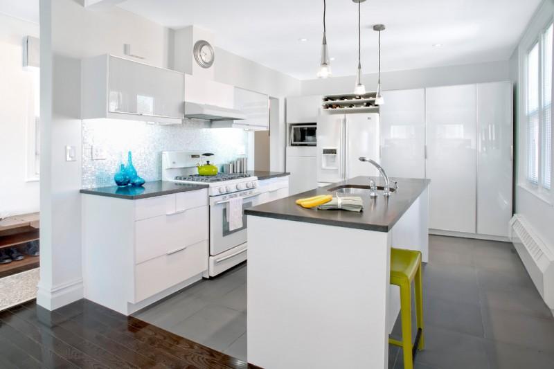 Great Grey Quartz Countertop White Kitchen Combo Ideas To