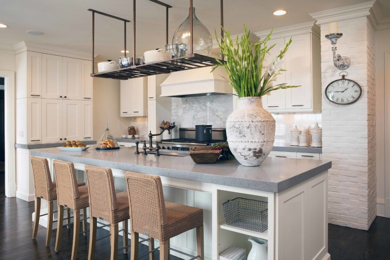 Great Grey Quartz Countertop White Kitchen Combo Ideas To