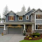 Hill Country House Plans Blue Stones Windows Door Glass Pillars Wood White Pots Plants Traditional Exterior