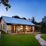 Hill Country House Plans Stone Pathway Chairs Roof Grass Railing Door Windows Walls Stones Lighting