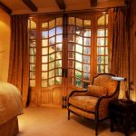 luxurious house door design chair wood bed pot flowers ceiling lamp glass elegance curtains handles