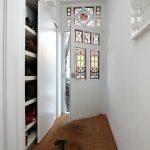 luxurious house door design wooden floor white wall sliding storage door white ceiling shoes door decoration