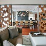 Random Wooden Blocks Divider With Black Metal Frame