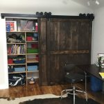 Recessed Closet Design Withdark Shabby Sliding Barn Door