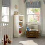 Room Decor With Toy Box Carpet Window Curtain Decor Doll Glass Clock Shelves Toys Light Colors