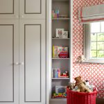Room Decor With Toy Cabinet Shelves Books Dolls Toys Window Basket Curtain Wall Decor Glass Kids Room