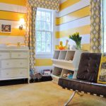 room decor with toy carpet seating window glass curtains cabinets wall lamp poster nursery room yellow
