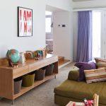 Room Decor With Toy Table Toys Sofa Pillows Globe Wall Decor Curtain Window Wood Ceiling Lamp