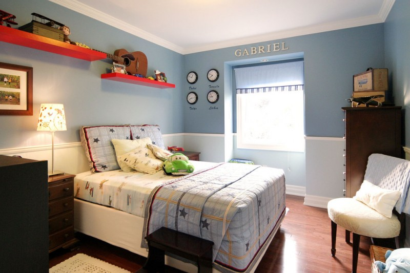 room decor with toy wood window letter seating bed cabinet photo lamp shelves guitar toys pillows
